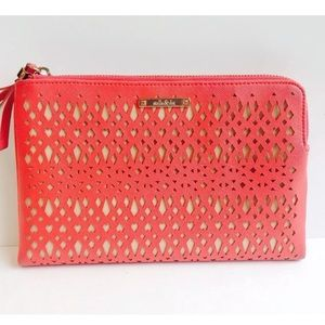 Stella and dot coral clutch